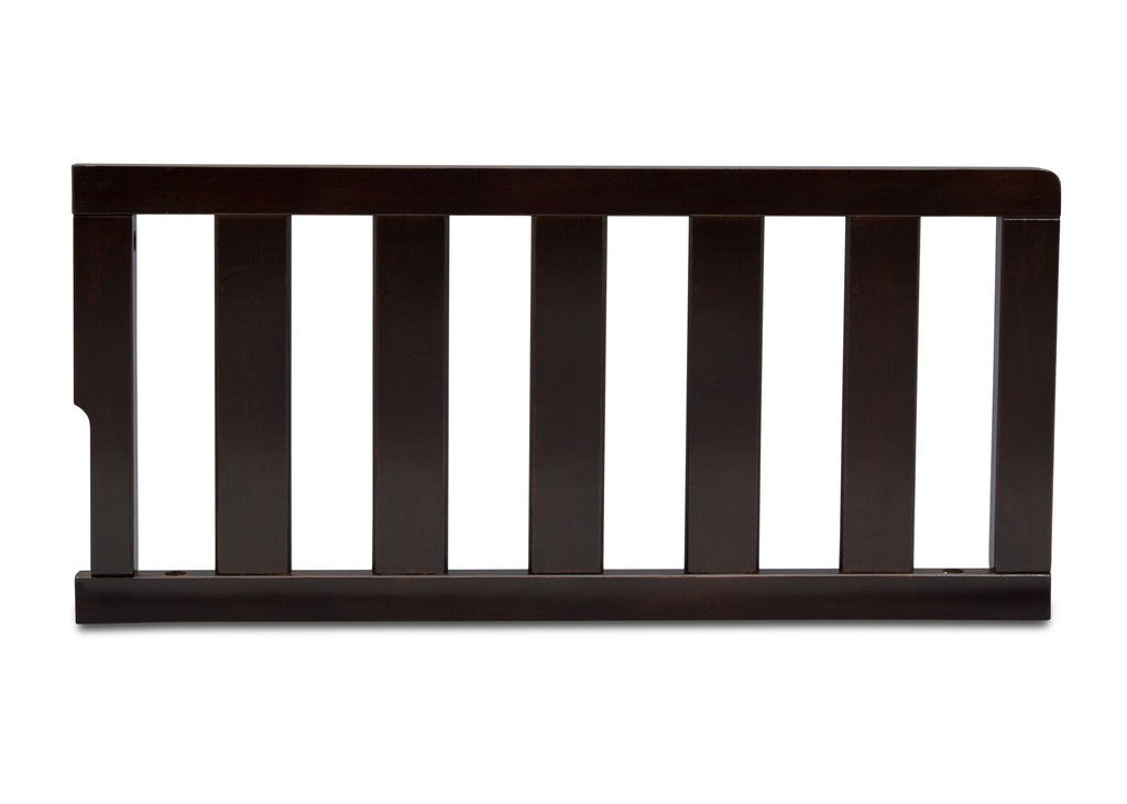 Delta Children Dark Chocolate (207) Toddler Guardrail (0096), front view c1c