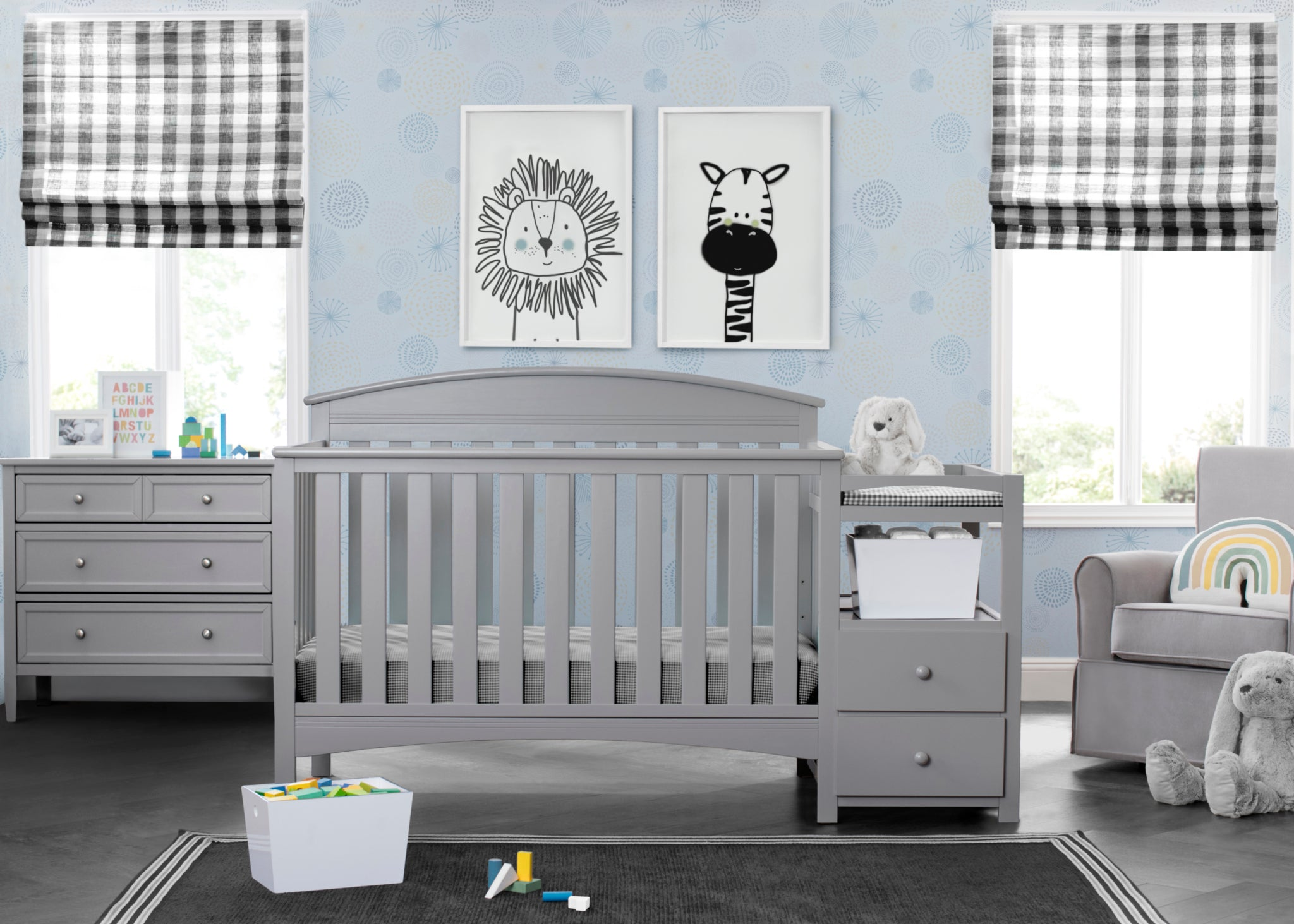 Abby Crib N Changer Grey (026)