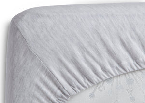 Delta Children Heather Grey (053) Fitted Crib Sheet Set – 2 Pack Corner View