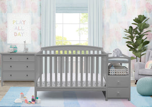 Delta Children Grey 026 Royal Crib 'N' Changer, Crib Conversion in Setting a1a Grey (026)