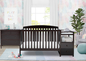 Delta Children Dark Chocolate 207 Royal Crib 'N' Changer, Crib Conversion in Setting c1c Dark Chocolate (207)