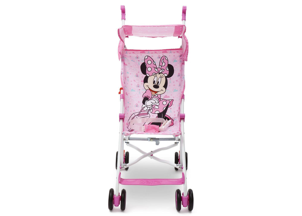 Delta Children Disney Minnie Mouse Umbrella Stroller, Front View a2a