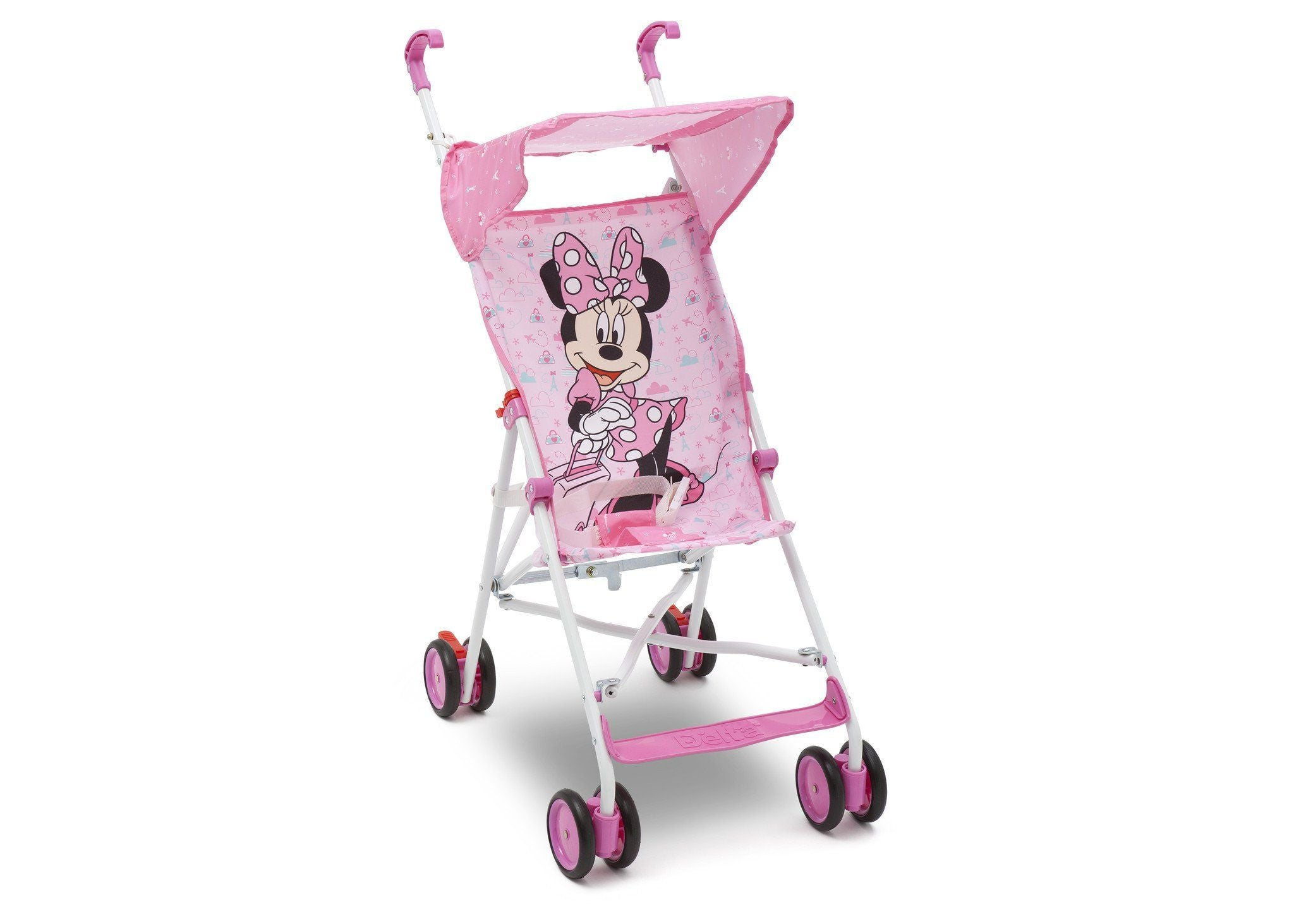 Delta Children Disney Minnie Mouse Umbrella Stroller, Side View a1a