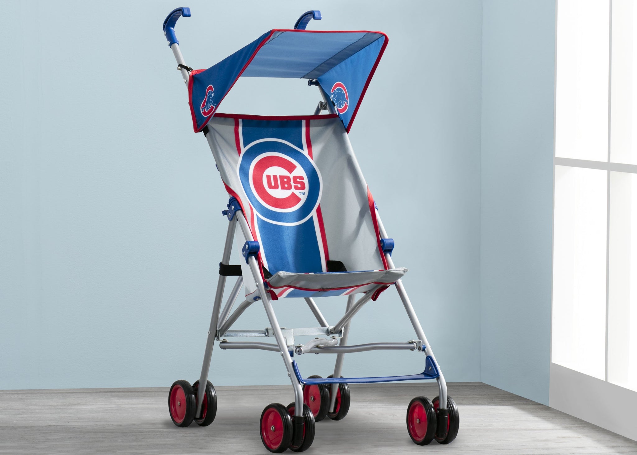 Delta Children Cubs Style 1 (1232) MLB Umbrella Stroller, Hangtag View