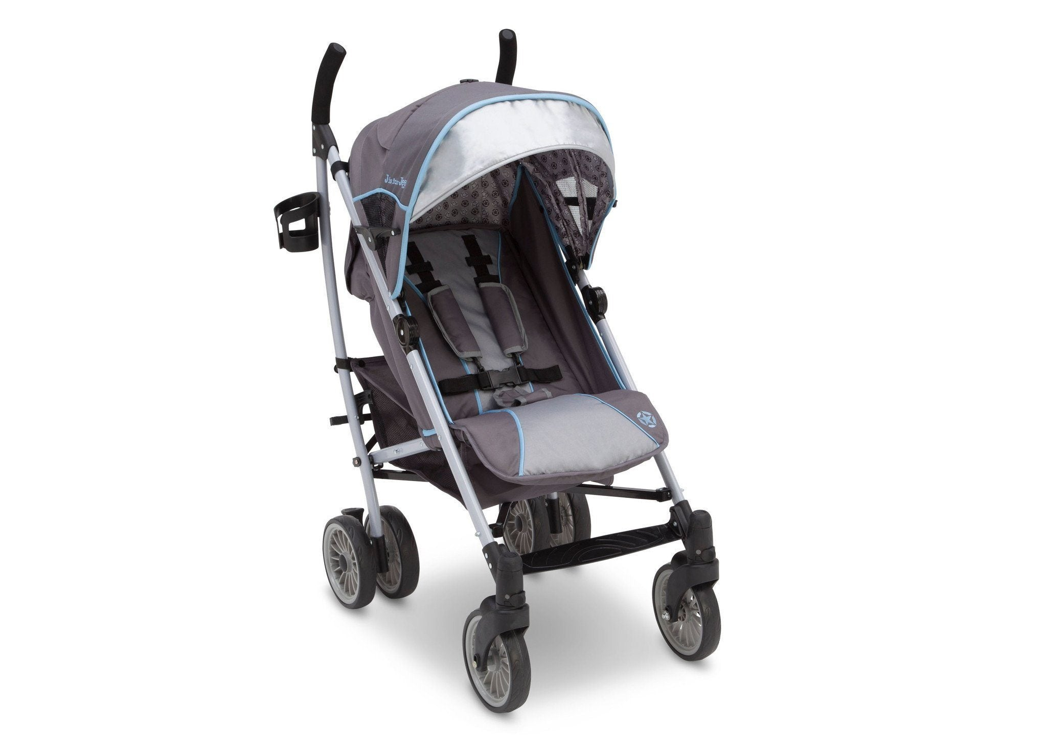 Delta Children Star Light (095) J is for Jeep Brand Atlas AL Sport Stroller Right Side View, with Canopy a1a