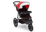 J is for Jeep® Brand Classic Jogging Stroller Classic Red (2018), Right View cfc
