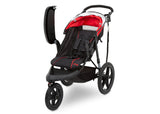 J is for Jeep® Brand Classic Jogging Stroller Classic Red (2018), Left View wit Tray Open cfc