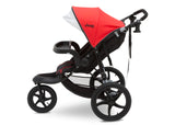 J is for Jeep® Brand Classic Jogging Stroller Classic Red (2018), Side View Stroller cfc