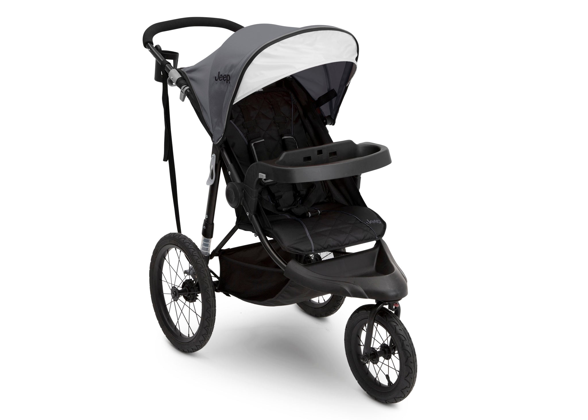 J is for Jeep® Brand Classic Jogging Stroller Grey (2094), Right View