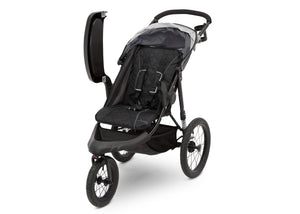 J is for Jeep® Brand Classic Jogging Stroller Grey (2094), Left View with Tray Open