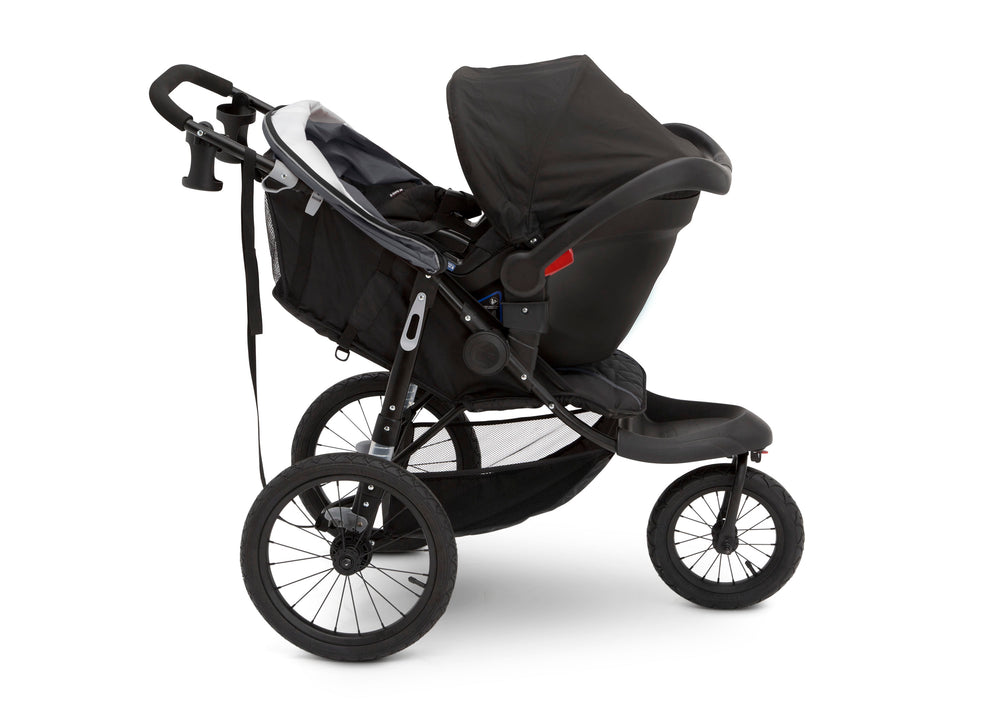 J is for Jeep® Brand Classic Jogging Stroller Grey (2094), Side View