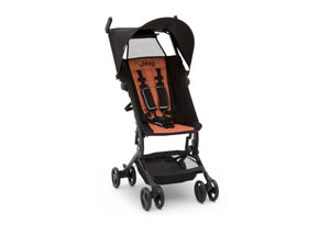 Jeep® Clutch Plus Travel Stroller with Reclining Seat Black with Orange (2183), Front View