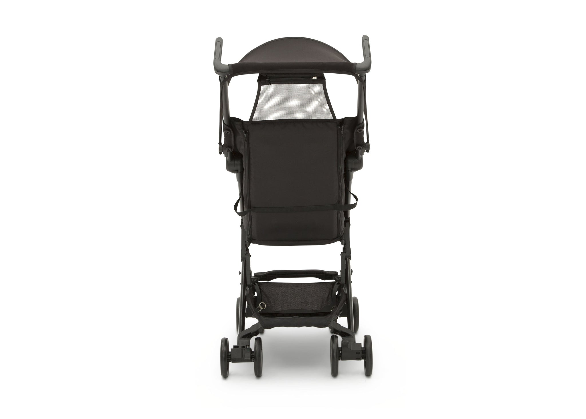 Jeep® Clutch Plus Travel Stroller with Reclining Seat Black with Grey (2184), Storage Basket Rear View