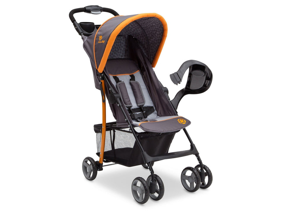 Delta Children Lunar J is for Jeep Brand Metro Stroller Right Side View, with Canopy