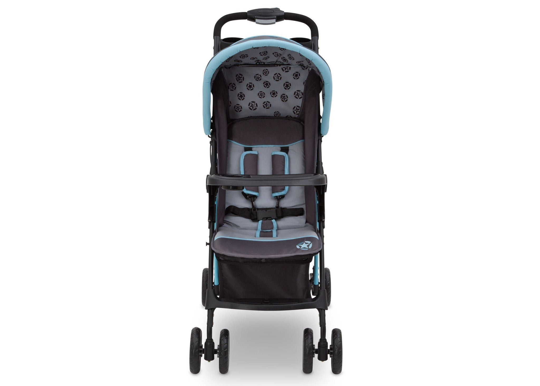 Delta Children Satellite (094) J is for Jeep Brand Metro Stroller Front View b3b