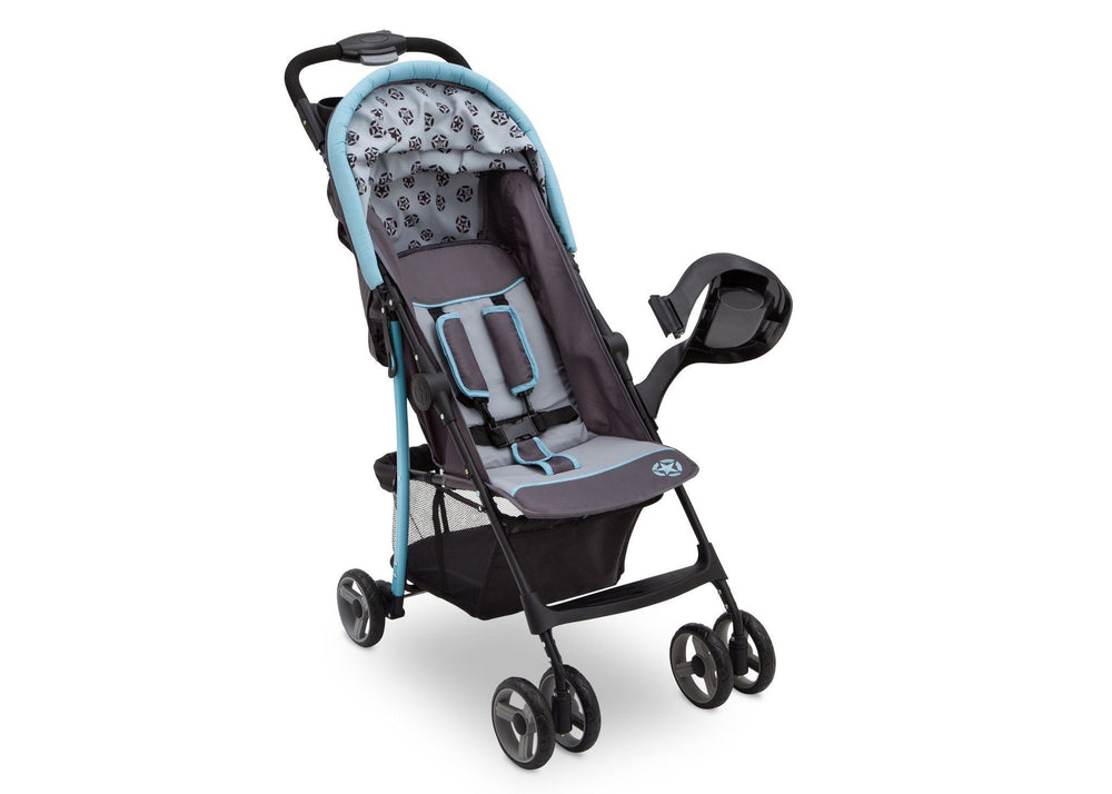 Delta Children Satellite (094) J is for Jeep Brand Metro Stroller Right Side View b2b