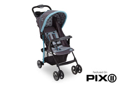 Delta Children Satellite (094) J is for Jeep Brand Metro Stroller, Folded b6b