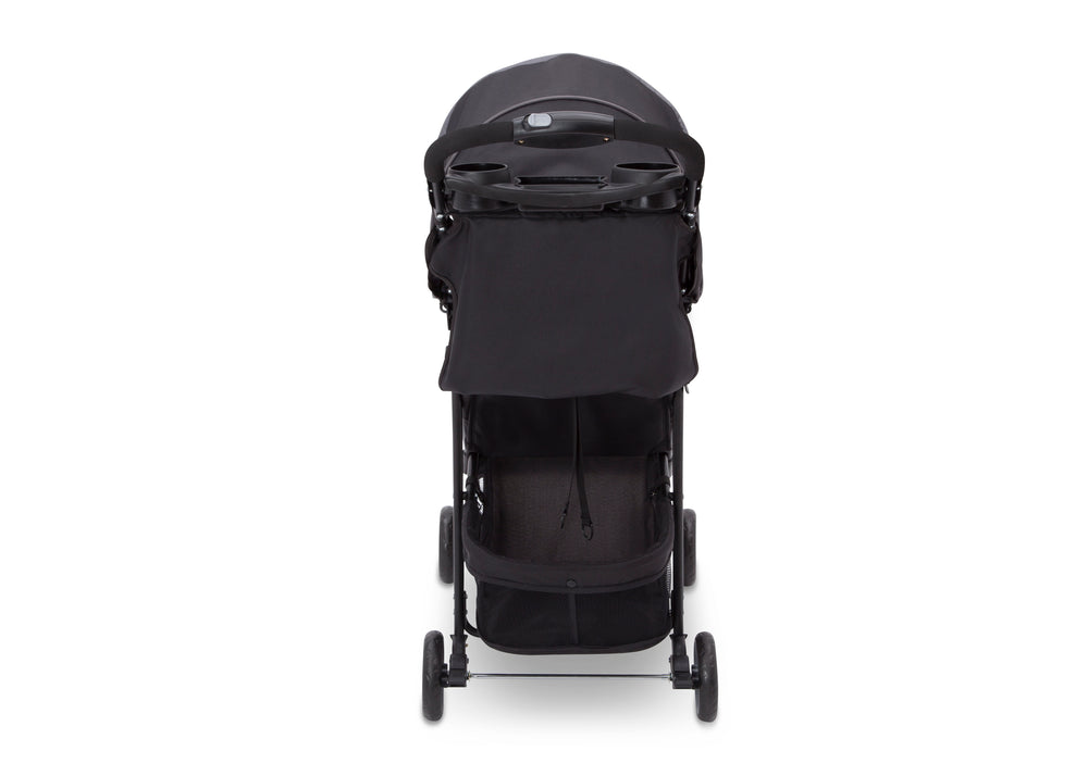 Delta Children Brushstrokes (2029) J is for Jeep Brand Metro Stroller Side View, with Canopy and Child Tray d3d
