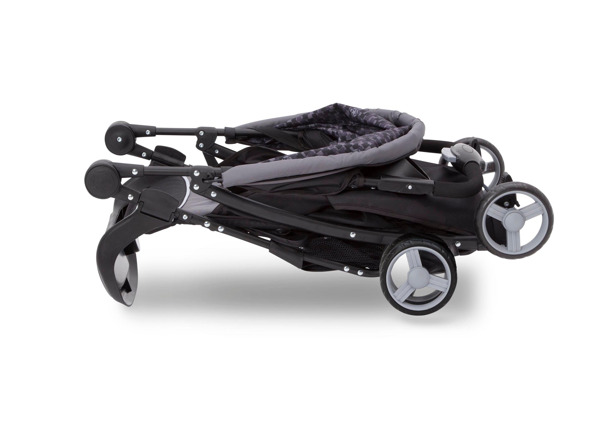 Delta Children Brushstrokes (2029) J is for Jeep Brand Metro Stroller Folded View d4d