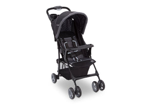 Delta Children Brushstrokes (2029) J is for Jeep Brand Metro Stroller Right Side View, with Canopy and Child Tray d1d