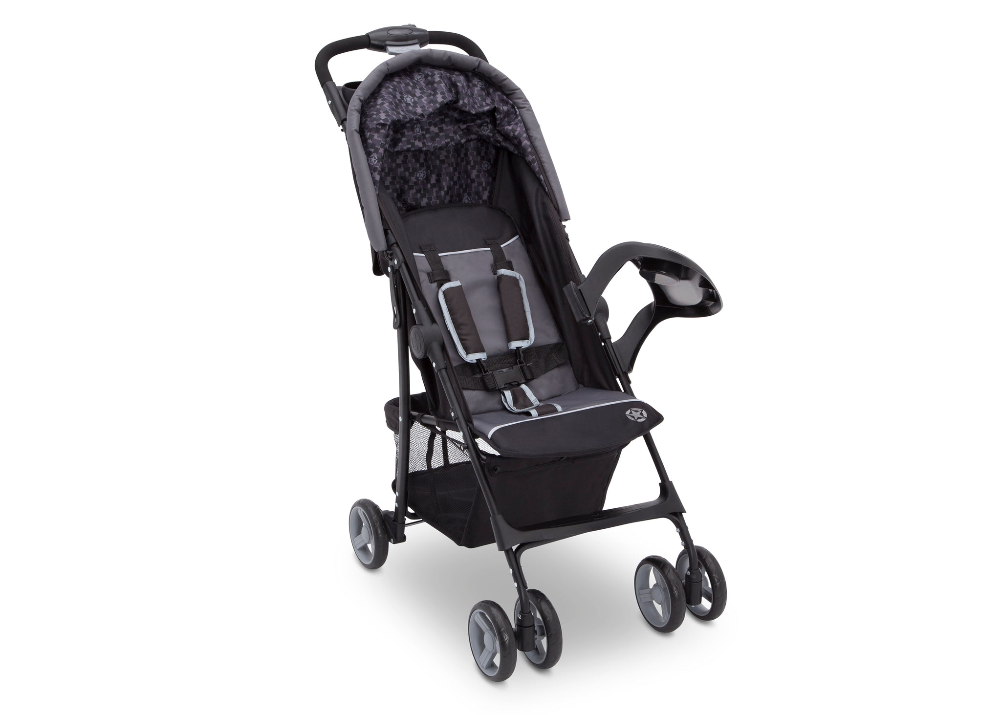 Delta Children Brushstrokes (2029) J is for Jeep Brand Metro Stroller Right Side View, without Canopy and Child Tray d2d
