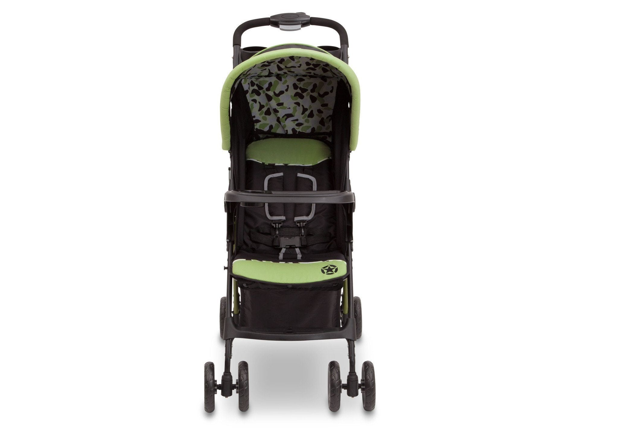 Delta Children Trekking (344) J is for Jeep Brand Metro Stroller Front View c3c