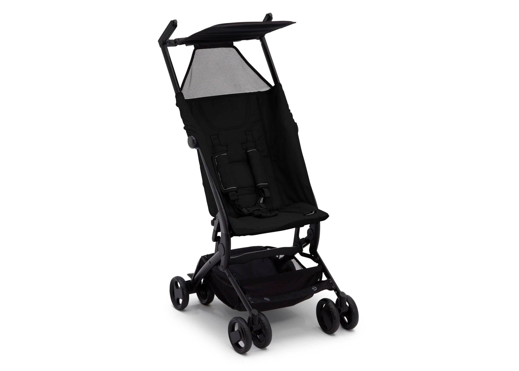 Delta Children Ultimate Fold N Go Compact Travel Stroller Black (001), Right Side View a3a