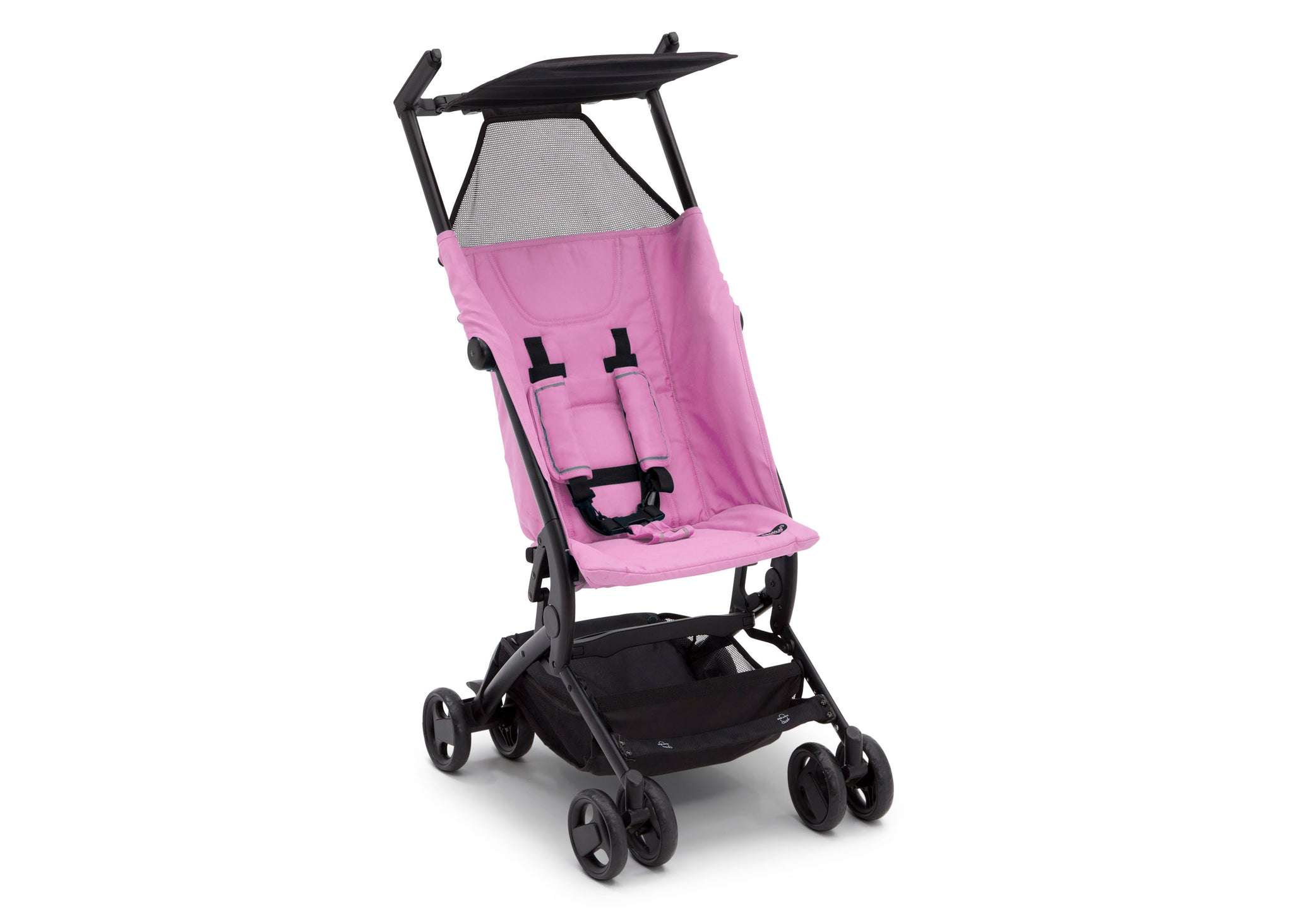 Delta Children Ultimate Fold N Go Compact Travel Stroller Pink (2021), Right Side View b3b