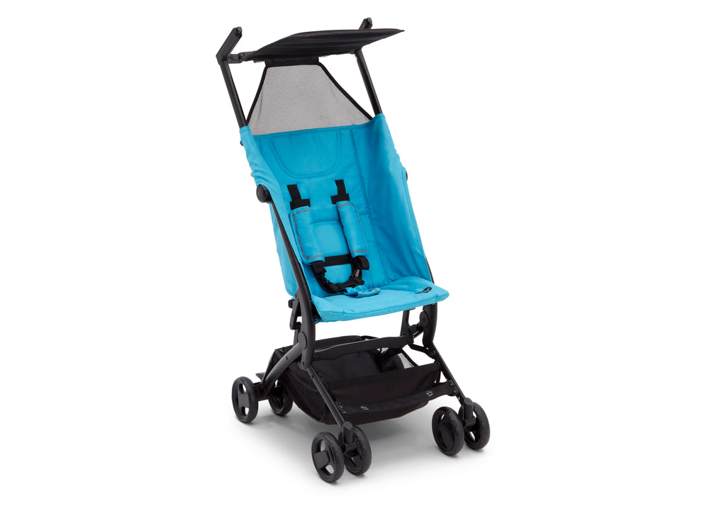 Delta Children Ultimate Fold N Go Compact Travel Stroller Aqua (2022), Right Side View c3c