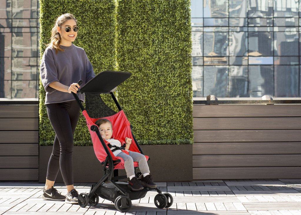 Ultimate Fold N Go Compact Travel Stroller (Red) - bundle