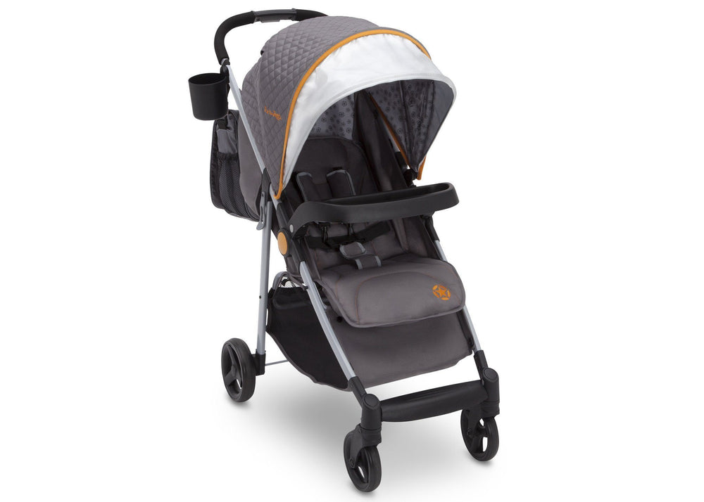 Delta Children J is for Jeep Brand Metro Plus Stroller, Galaxy (850) with carryall and cup holder Right Side View, a1a