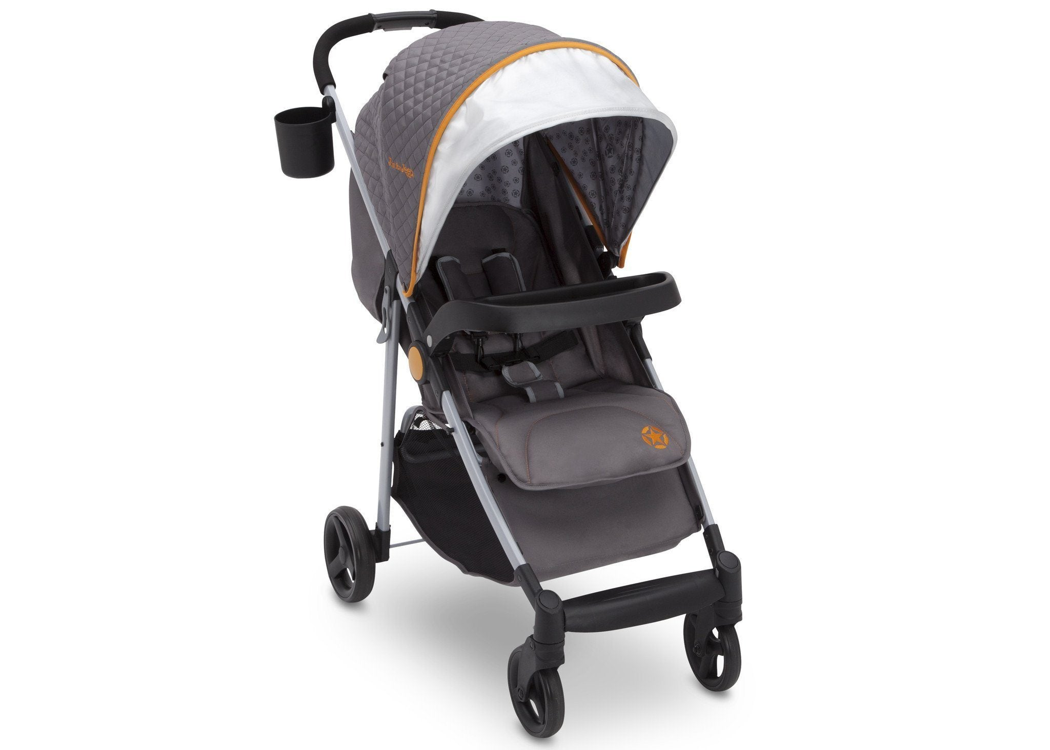 Delta Children J is for Jeep Brand Metro Plus Stroller, Galaxy (850) with cup holder, Right Side View, a2a
