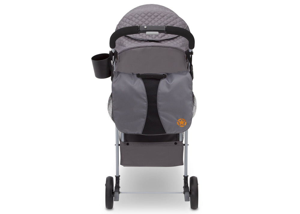 Delta Children J is for Jeep Brand Metro Plus Stroller, Galaxy (850) Back View, a6a