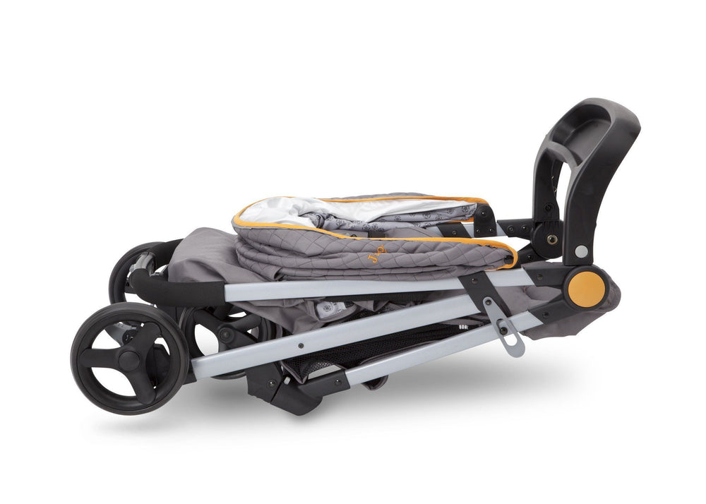 Delta Children J is for Jeep Brand Metro Plus Stroller, Galaxy (850) Folded, a7a
