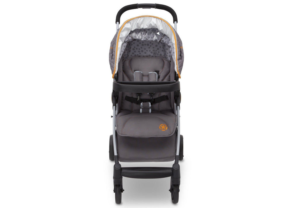 Delta Children J is for Jeep Brand Metro Plus Stroller, Galaxy (850) Front View, a5a