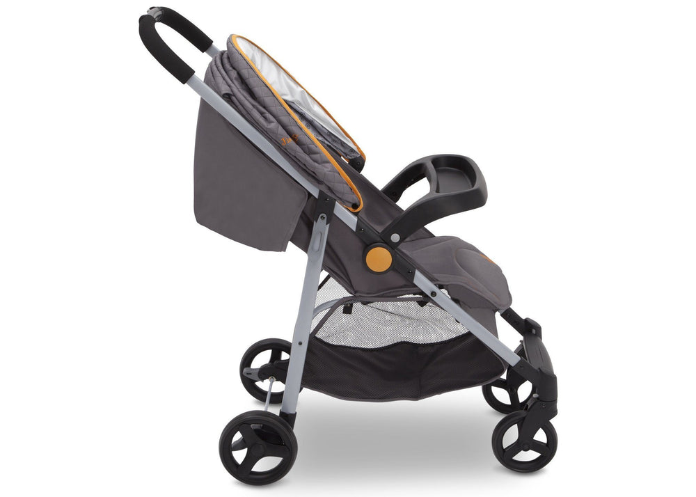 Delta Children J is for Jeep Brand Metro Plus Stroller, Galaxy (850) closed canopy, Side View, a4a