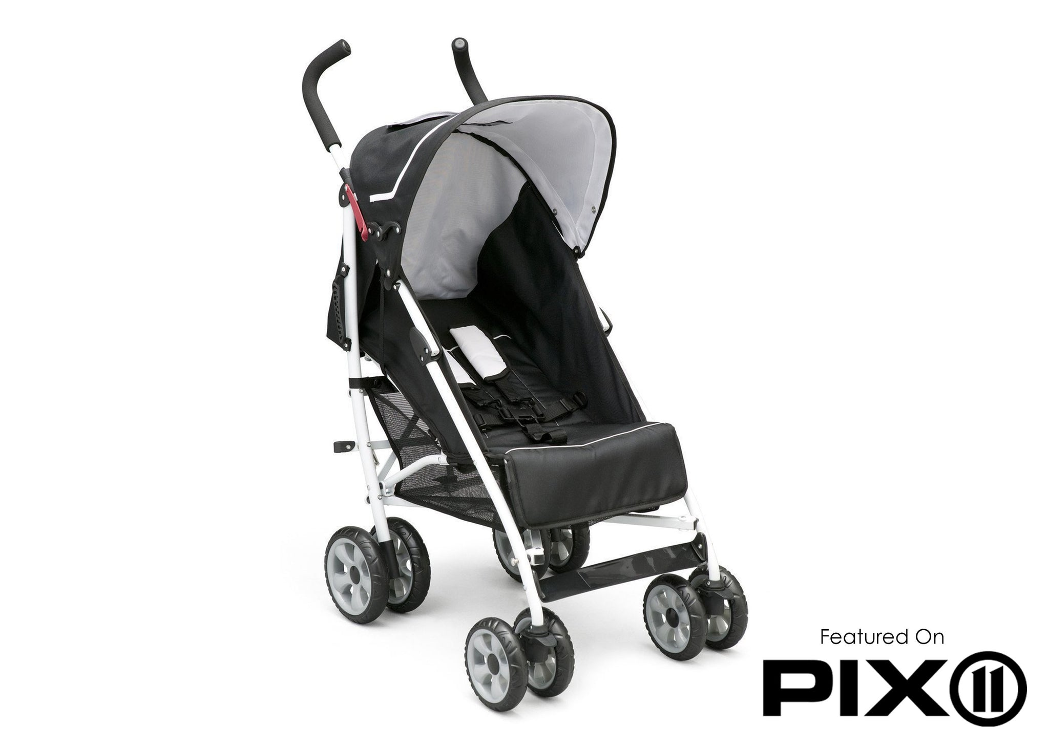 Delta Children Black (019) LX Stroller Left Side View a3a