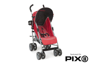 Delta Children Red (629) LX Stroller Side Left Side Detail View f4f