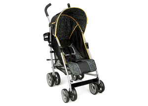 Delta Children Black & Orange (820) LX Stroller Right Side View g1g