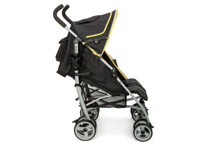 Delta Children Black & Orange (820) LX Stroller Side View 1 g2g