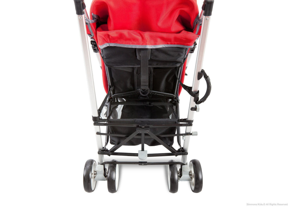 Simmons Kids® Vigor Red (623) Comfort Tech Tour LX Stroller, Back View c3c