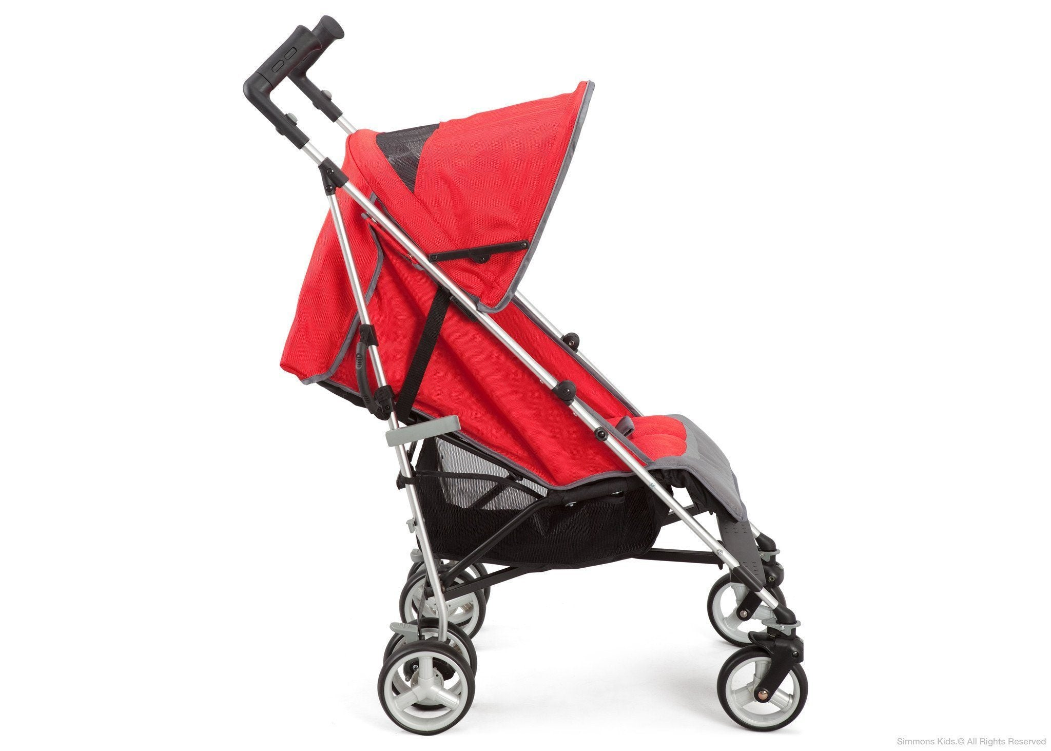 Simmons Kids® Vigor Red (623) Comfort Tech Tour LX Stroller, Side View c2c