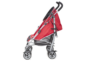 Delta Children Red (609) Ultimate Convenience Stroller, Full Left Side View c2c