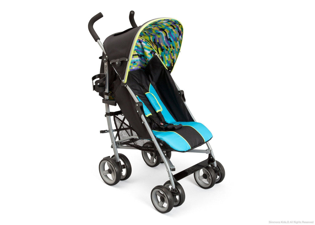 Delta Children Sheriff Black (014) Alpha Elite Stroller Right Side View a1a