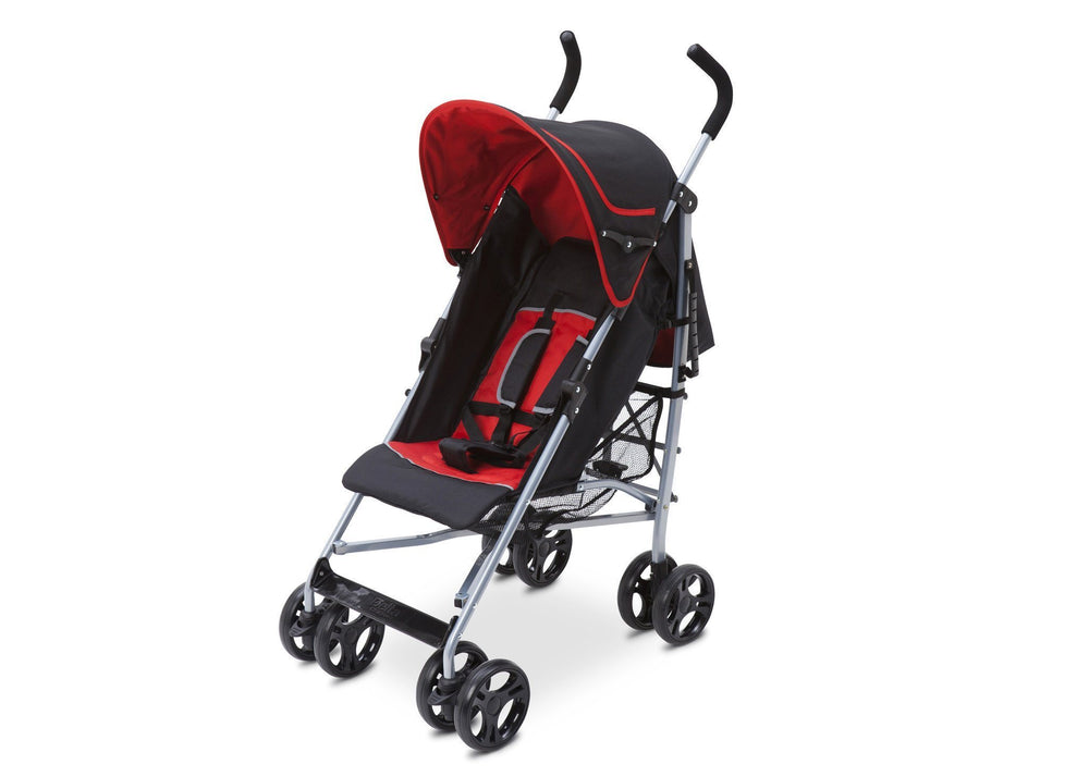 Delta Children Red & Black  (609) Ultimate Stroller, Left Side View