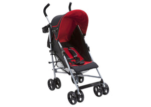 Delta Children Red & Black (609) Ultimate Stroller, Style-1 Right Side View a1a