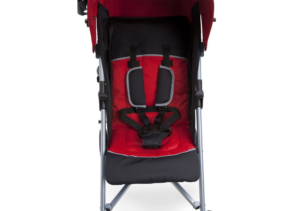 Delta Children Red & Black  (609) Ultimate Stroller, Seat Detail
