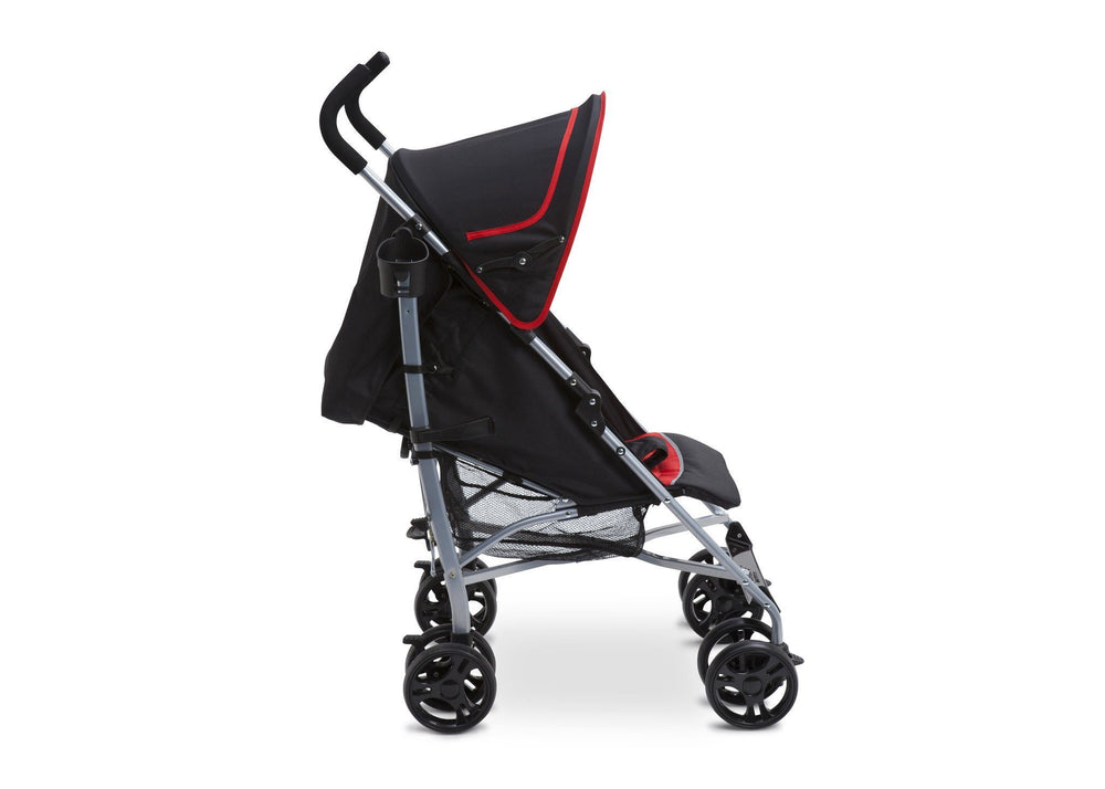 Delta Children Red & Black (609) Ultimate Stroller, Style-1 Full Right Side View a2a