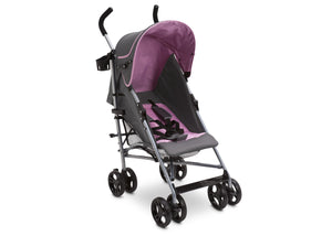 Delta Children Pink & Grey (697) Ultimate Stroller, Style-2 Right Side View b1b
