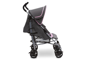 Delta Children Pink & Grey (697) Ultimate Stroller, Style-2 Full Right Side View b2b